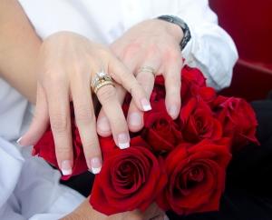 Ślubny bukiet róż